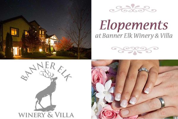 Elopement   2017 at Banner Elk Winery and Villa