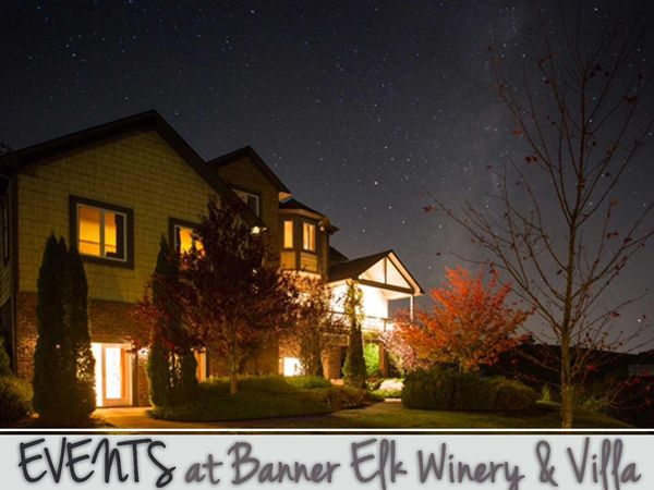 Events at Banner Elk Winery & Villa