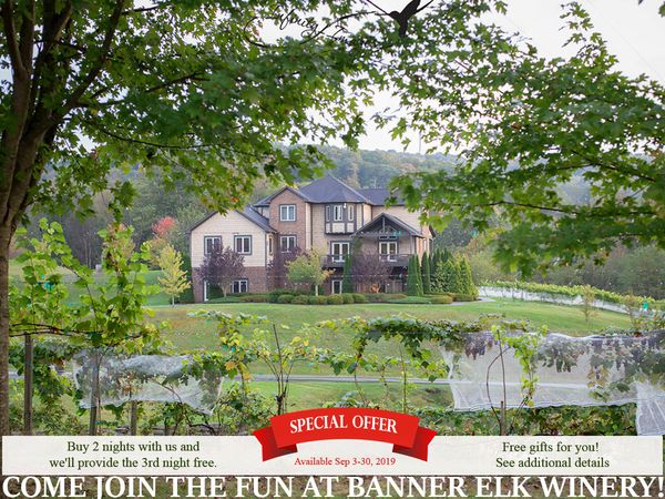 Banner Elk Winery & Villa Special Offer, Photo credit: Infinity Images