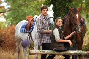 Banner Elk Winery & Villa Couple Riding