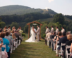 Banner Elk Wedding Ceremony