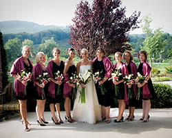Banner Elk Bride and Bridesmaids